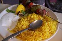 Kababs and Rice
